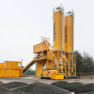 GRP silos for a mobile concrete plant