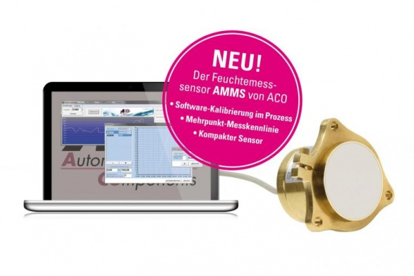 "Latest News - ACO AMMS Sensor for measuring bulk goods ""all-in-one"": direct measuring – digital processing – analogue output"