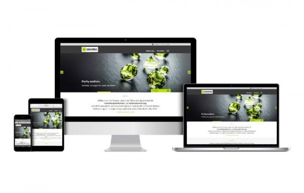New Sesotec Website Competence communicated comfortably