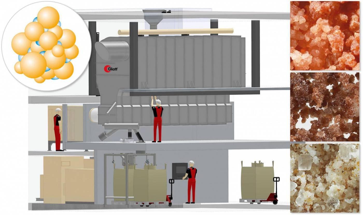 Small fluidized bed system for high agglomeration demands Compact, fast, economical: New fluid bed concept from Glatt starts after just 12 days