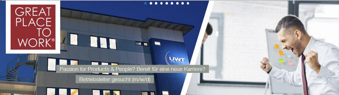 UWT GmbH sucht Betriebsleitung (m/w/d) Passion for People & Products