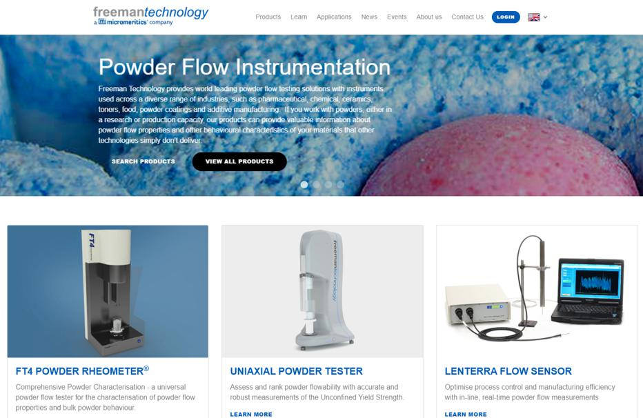 Freeman Technology launches a new website An unrivalled powder testing resource from the global leaders