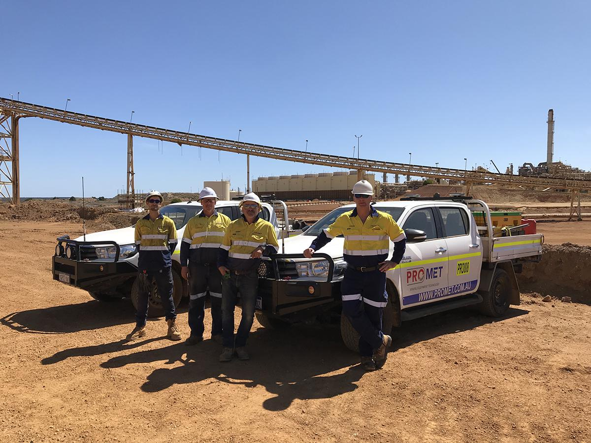 CenTrax goes Down Under Belt trackers for Promet Mining & Metals Australia.