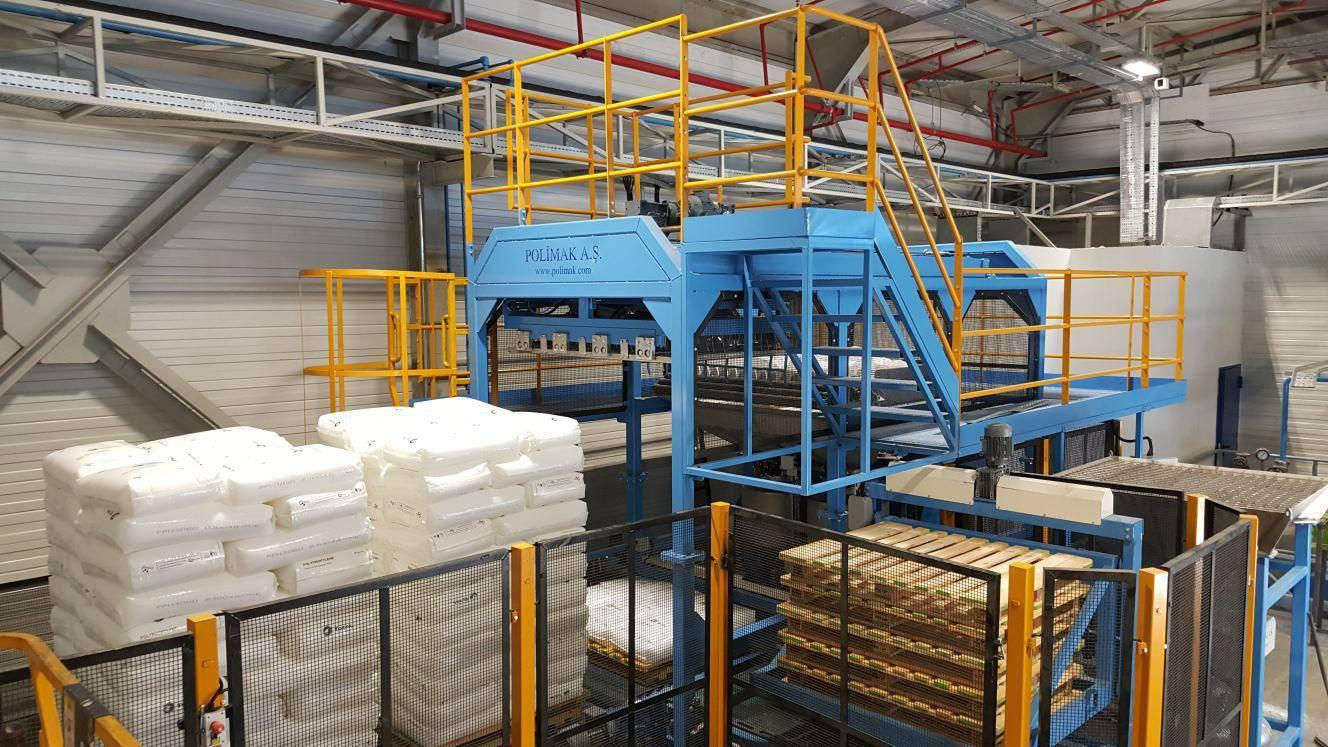 Polimak Turnkey Projects Automatic Sack Discharge and Extruder Feeding System